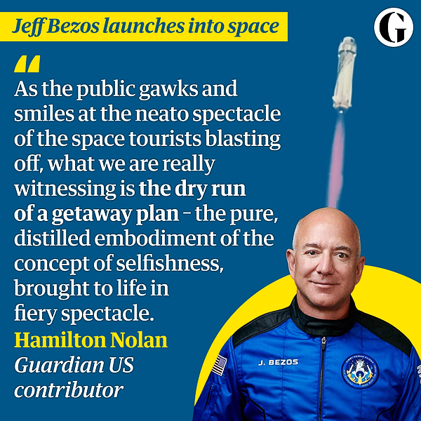 @guardian Why is Bezos flying to space?   Hamilton Nolan Link Thumbnail   Linktree