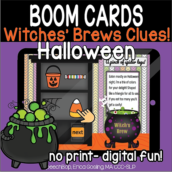 Halloween Witch's Brew's Clues! An Inferencing Activity
