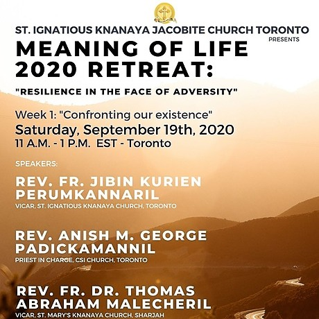 """@stignatiousseniors Speakers List for Week 1 of """"Meaning of Life 2020 Retreat"""" Seminar Link Thumbnail 
