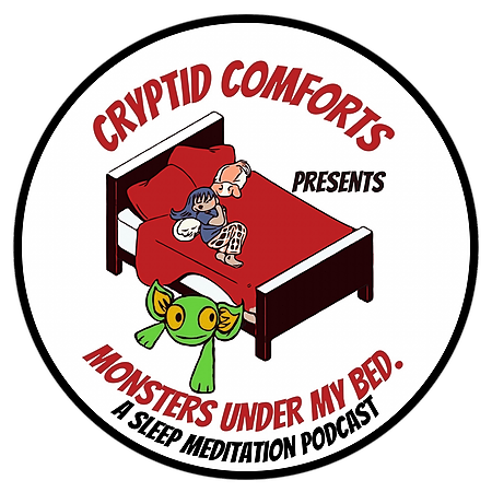 Cryptid Comforts Monsters Under my bed podcast on Apple Link Thumbnail | Linktree