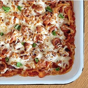 """Cheesy """"Spaghetti"""" Bake Recipe"""