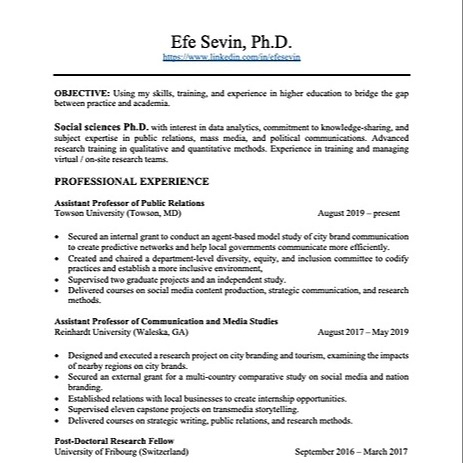@efesevin Resume Link Thumbnail   Linktree