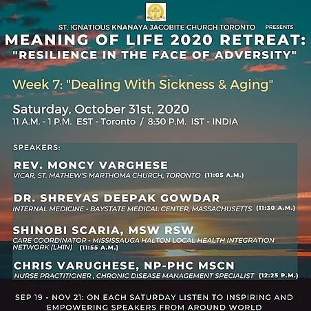 """@stignatiousseniors Speakers List for Week 7 of """"Meaning of Life 2020 Retreat"""" Seminar Link Thumbnail 