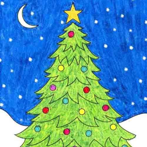 @artprojectsforkids Draw a Christmas Tree Link Thumbnail   Linktree
