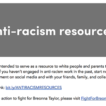 Anti-racism Resources in english