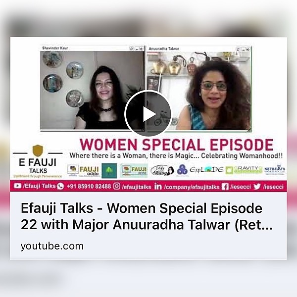 Vibhushitaa Conversation with E - Fauji Talks Link Thumbnail   Linktree