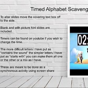 @RebeccaAllgeier Scavenger hunt - alphabet Link Thumbnail | Linktree
