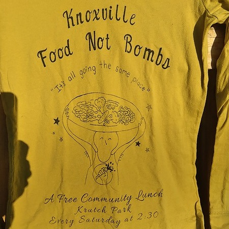 Knoxville Food Not Bombs - Free Lunch Saturdays 2:30pm @ Krutch Park