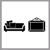 🛍️🎨 DÉCORATION D'INTÉRIEUR : reproductions de tableaux, coussins, couvertures, linge de maison,...
