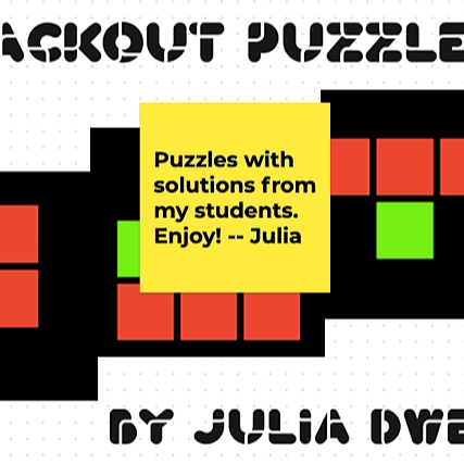 Blackout Puzzles with Multiple Solutions from my Students