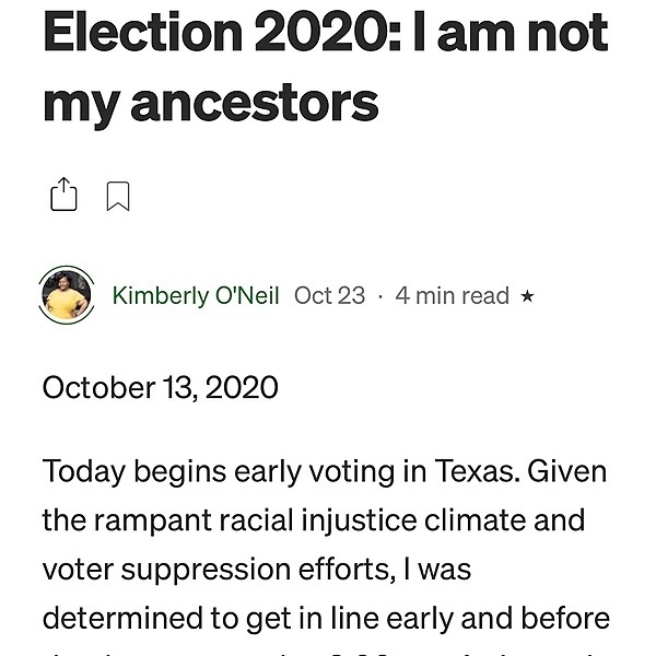 [Read] Election 2020: I Am Not My Ancestors