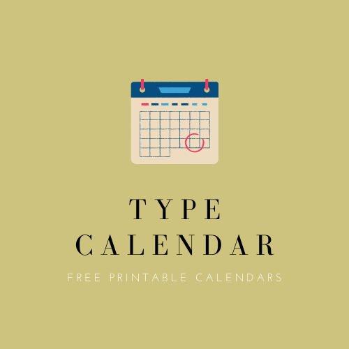 Free Printable Calendar (typecalendar) Profile Image | Linktree