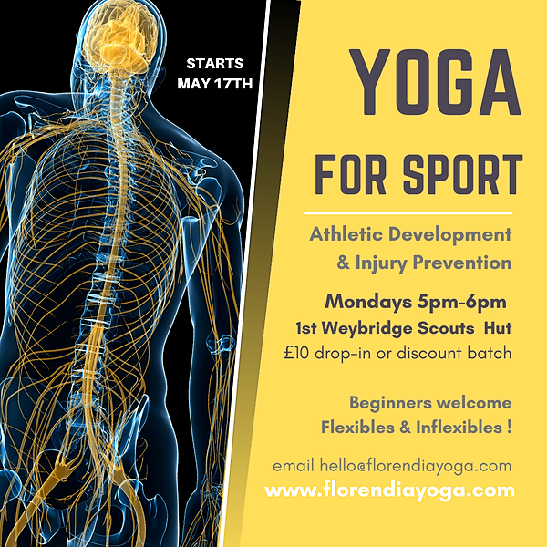 @florendia Mondays 5:30-6:30pm Yoga for Sports Scouts Hut Weybridge Link Thumbnail | Linktree