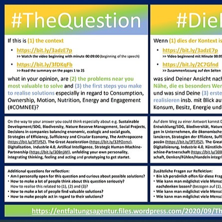 @entfaltungsagentur #TheQuestion / #DieFrage Link Thumbnail   Linktree