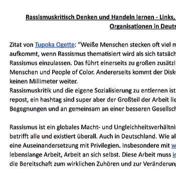 @transmission_net Rassismuskritisch Denken und Handeln lernen - Ressourcen auf Deutsch Link Thumbnail | Linktree