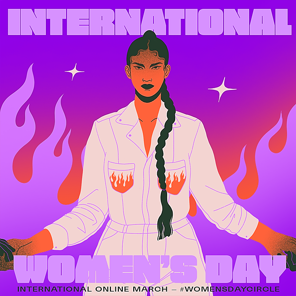 Women's Day Circle - TEMPLATE