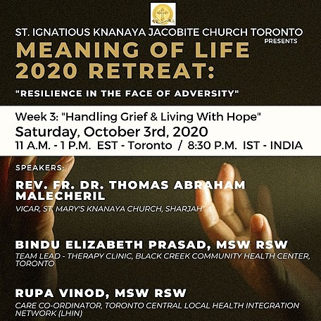 """@stignatiousseniors Speakers List for Week 3 of """"Meaning of Life 2020 Retreat"""" Seminar Link Thumbnail 
