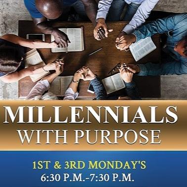 Millennials ~ 1st & 3rd Mondays at 6:30pm