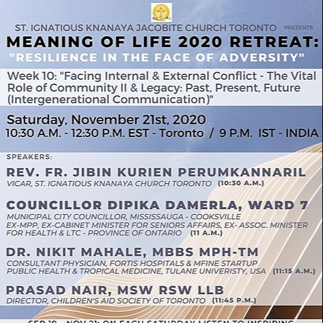 """@stignatiousseniors Speakers List for Week 10 of """"Meaning of Life 2020 Retreat"""" Seminar Link Thumbnail 