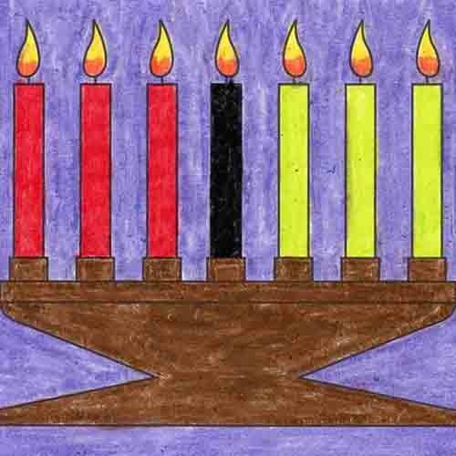 @artprojectsforkids Draw Kwanzaa Candles Link Thumbnail   Linktree