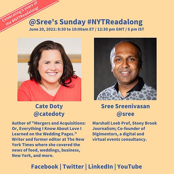 @Sree's Sunday #NYTReadalong (nytreadalongweddings) Profile Image | Linktree