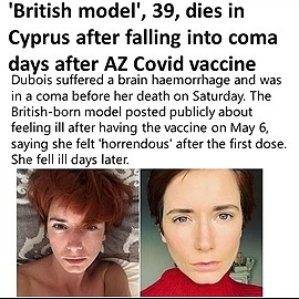 @VaccineChoiceCA MODEL DIES AFTER INJECTION Link Thumbnail | Linktree