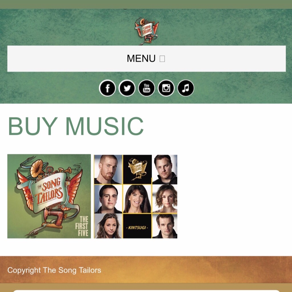 @thesongtailors Website Link Thumbnail | Linktree