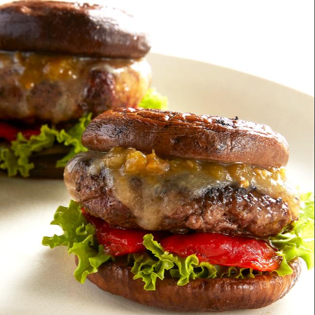 Cheeseburger Slides With Mushroom Bun Recipe