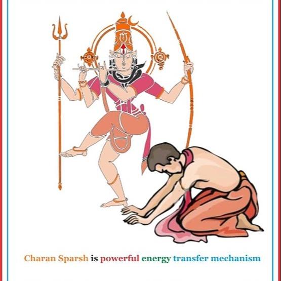 Shaktiohmchakra Charan Sparsh in English - Touching feet to elderly Vedic vetted mechanism for energy transfer Link Thumbnail | Linktree