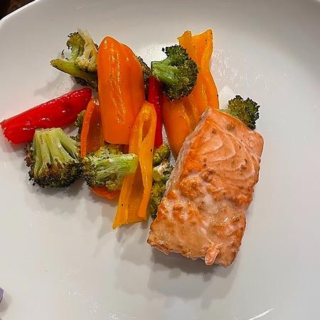 @amysmealdeal Sheet Pan Teriyaki Salmon & Veggies - @skinnytaste Link Thumbnail | Linktree
