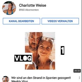 @charlotteweise YouTube Charlotte Link Thumbnail   Linktree