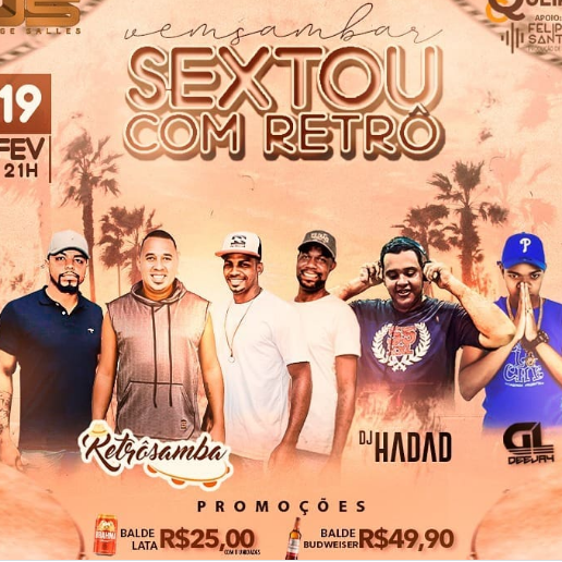 "DJ HADAD FLYER / DJ HADAD E RETROSAMBA ""SEXTA COM MUITO RETRÔ"" Link Thumbnail | Linktree"
