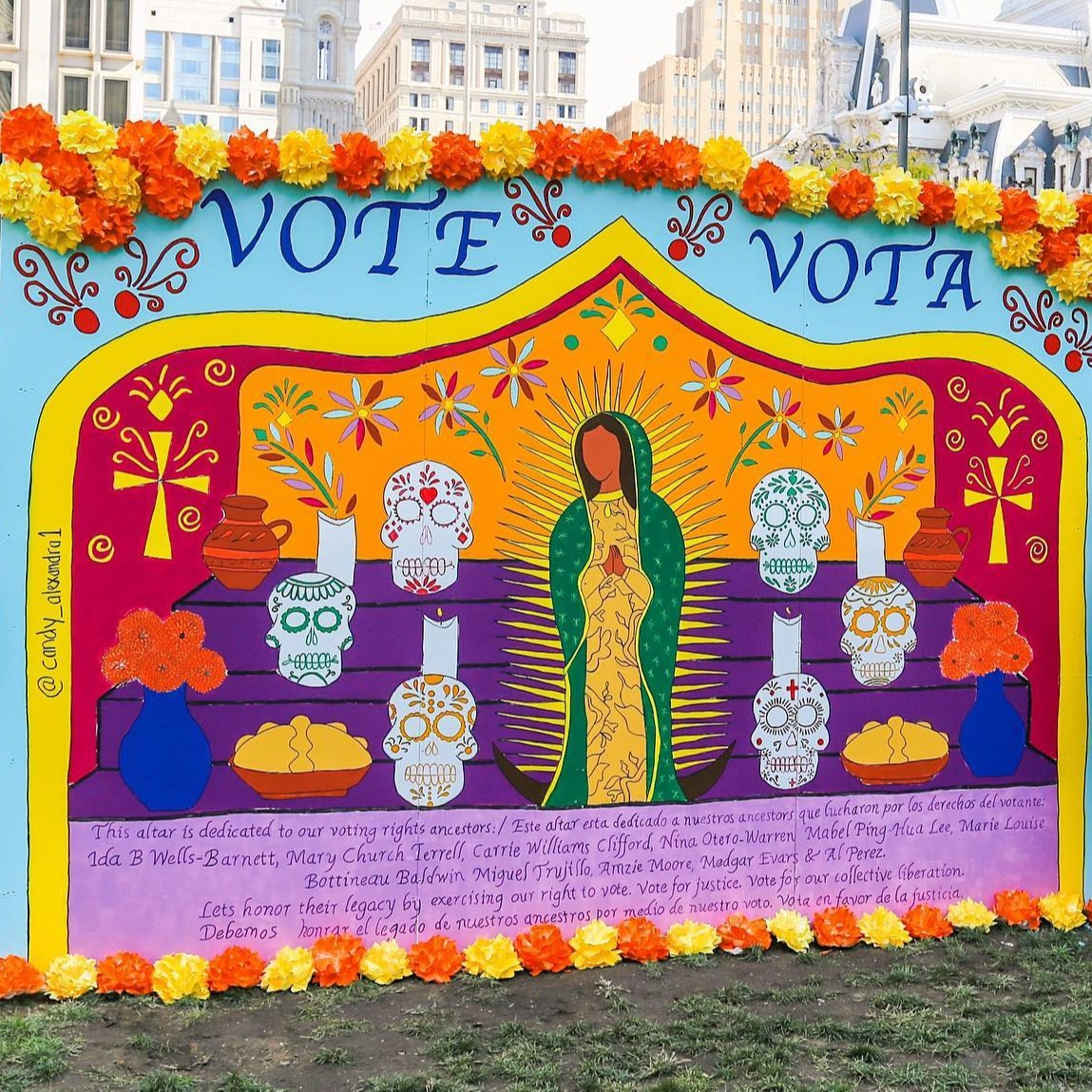 Learn more about #ToThePolls2020 at LOVE Park now through November 4!