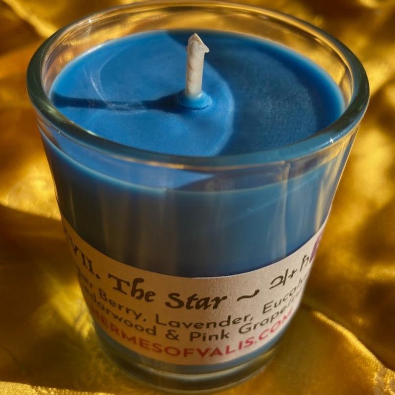 XVII The Star - Aquarius Votive Candle