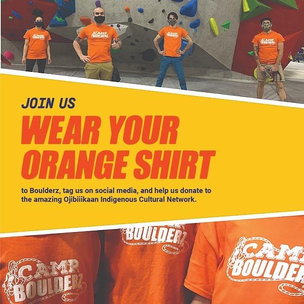 Boulderz Climbing Centre Commemorating Orange Shirt Day 2021 Link Thumbnail   Linktree