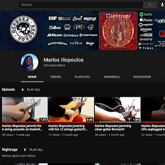 Marios Iliopoulos official Youtube with GTR videos jams etc!!