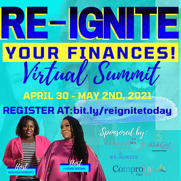 Increase Your Cash Flow w/ Me! Webinar Replays: Re-Ignite Your Finances! Link Thumbnail | Linktree