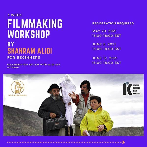 @LondonKurdishFilmFestival ONLINE WORKSHOP WITH SHAHRAM ALIDI | FREE SIGN UP Link Thumbnail | Linktree