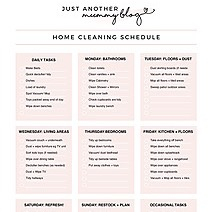 MY CLEANING SCHEDULE + FREE DOWNLOAD