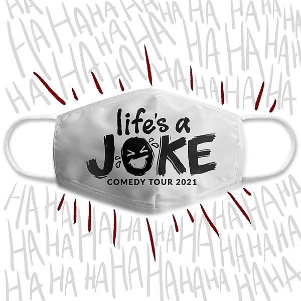 Life's a Joke Comedy Tour Masks