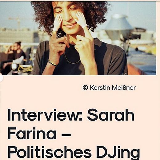 Interview: Sarah Farina – Politisches DJing & Rainbow Bass