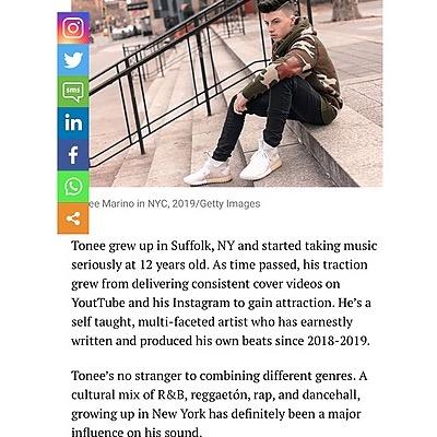 PR + MKTG + MGMT Tonee Marino Drops New EP Hosted By Dj Drewski Listen Here  Link Thumbnail | Linktree