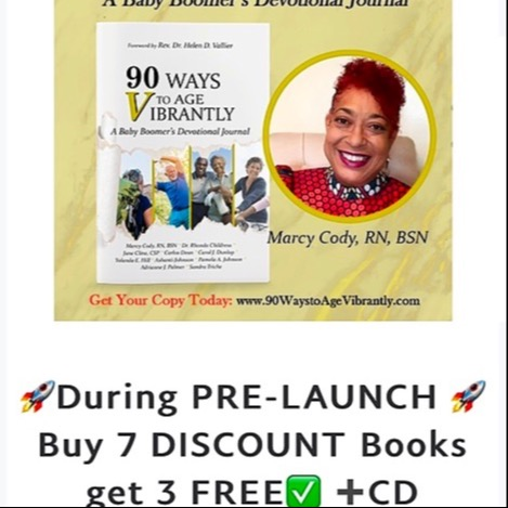 """📚Buy 7 Get 3 FREE & CD 💿  🚀Pre-Launch SALE📚""""90 Ways to Age VIBRANTLY! A Baby Boomers Devotional Journal"""""""