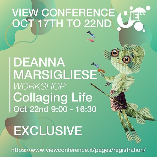 VIEWConference Deanna Marsigliese (Pixar Luca character art director) 6hrs Workshop Link Thumbnail | Linktree