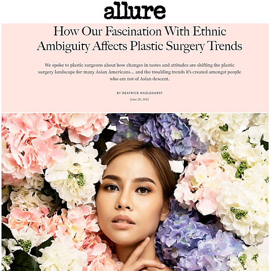 """ESKMD """"How Our Fascination With Ethnic Ambiguity Affects Plastic Surgery Trends"""" Link Thumbnail   Linktree"""