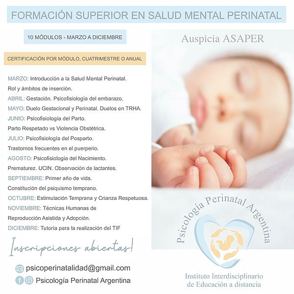 @Psicologiaperinatalargentina FORMACION ANUAL EN SALUD MENTAL PERINATAL - Programa, modalidad de cursada y equipo docente Link Thumbnail   Linktree