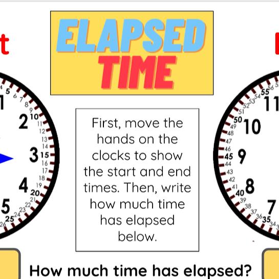 Elapsed Time Digital Worksheet