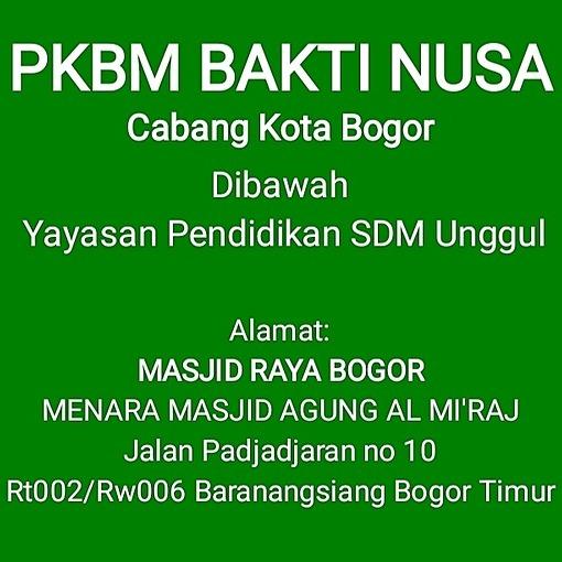 PKBM Bakti Nusa Sekolah Gratis Kota Bogor - Jalan Padjajaran no 10 Baranangsiang Bogor Tengah Link Thumbnail | Linktree