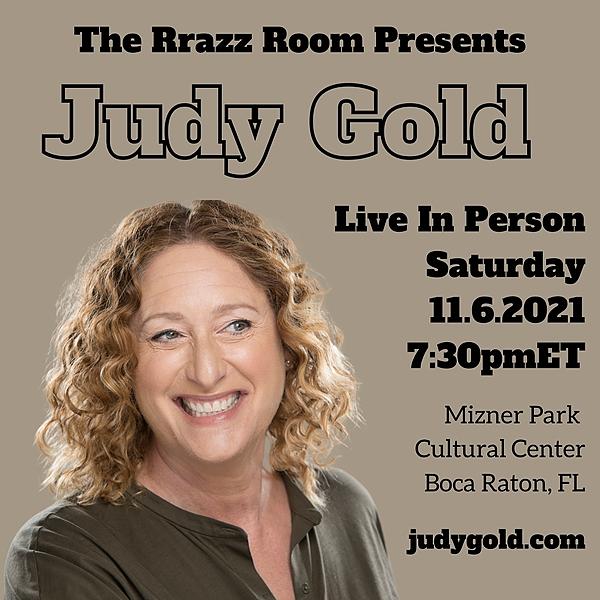 @Jewdygold 11/6 Rrazz Room Presents: Mizner Park Cultural Center, Boca Raton, FL  Link Thumbnail | Linktree