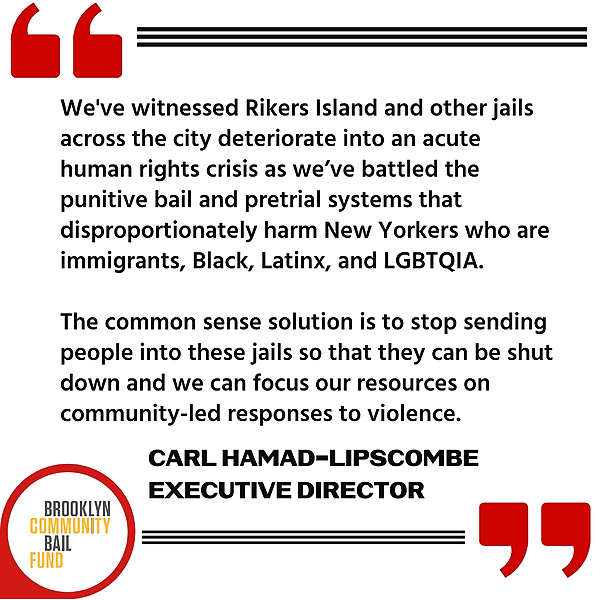 Brooklyn Community Bail Fund Call for Action in Response to Humanitarian Crisis in NYC Jails Link Thumbnail | Linktree